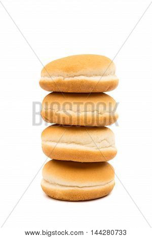 buns hamburger  bake on a white background
