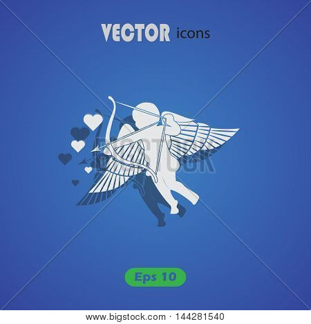 Cupid - Valentine's Day vector icon for web and mobile