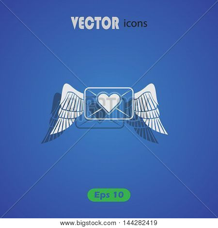 Letter love heart - Valentine's Day vector icon