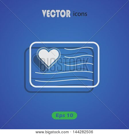 Love letter - Valentine's Day vector icon
