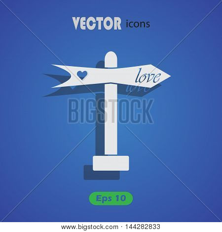Index love - Valentine's Day vector icon