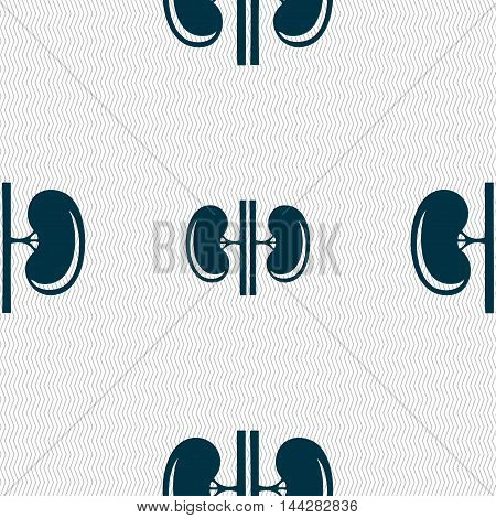 Kidneys Sign. Seamless Pattern With Geometric Texture. Vector