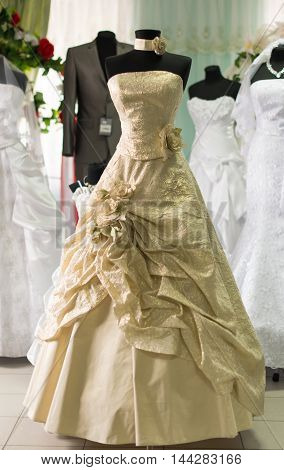lifestyles wedding dress shop with many objects