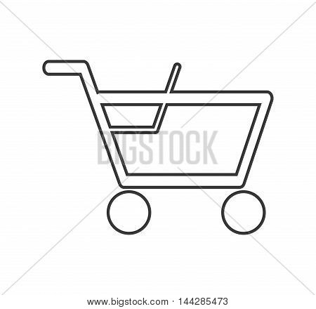 flat design abstract shopping cart icon vector illustration
