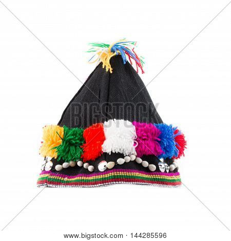 fabric hat hilltribes at nort in thailand.