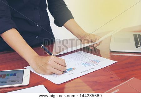 The Business meetings, documents, sales analysis, The summary