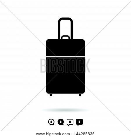 Travel Bag Set In Black And White Color Illustration