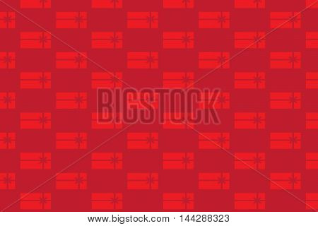 Vector illustration of red gift boxes pattern.