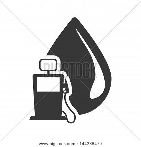 drop dispenser petroleum gasoline oil industry silhouette icon. Flat and Isolated design. Vector illustration