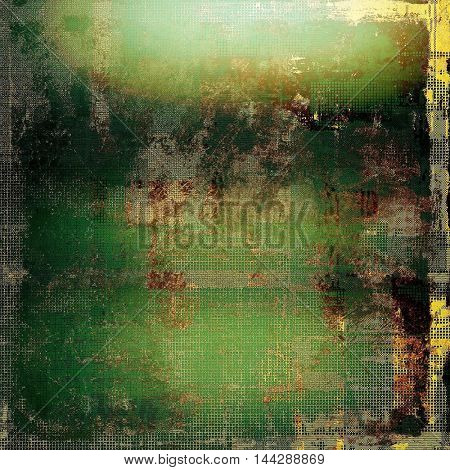 Old style distressed vintage background or texture. With different color patterns: gray; green; yellow (beige); brown; black; cyan