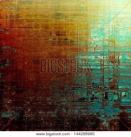Retro texture, shabby and ragged background in grunge style. With different color patterns: blue; red (orange); yellow (beige); brown; cyan; pink
