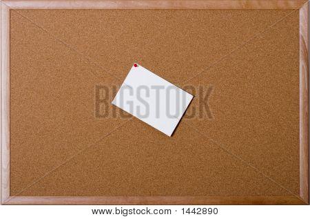 Schwarzes Brett mit Grußkarte