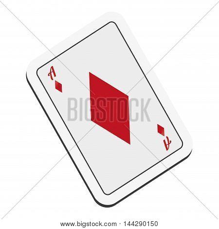 flat design diamond card icon vector illustration