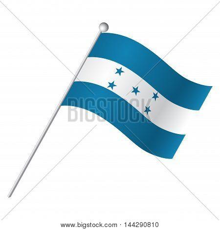 Isolated flag of Honduras Vector illustration, eps 10