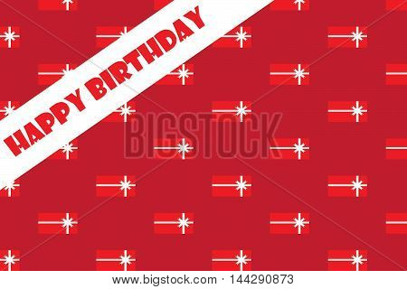 Happy Birthday Greeting Card Vector EPS 10 illustration.