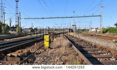 railway marshalling yard for freight cars and locomotives
