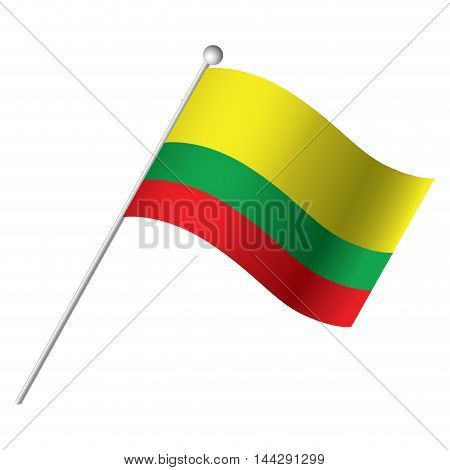 Isolated Lithuanian flag Vector illustration, eps 10