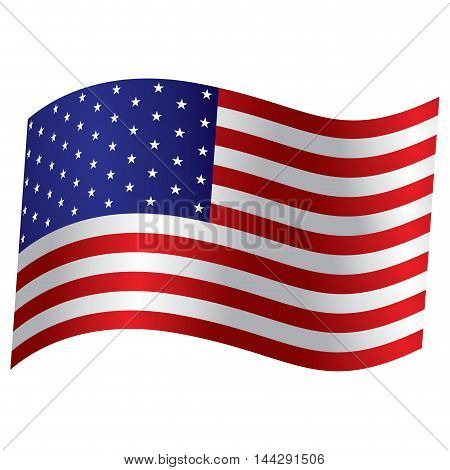 Isolated American flag Vector illustration, eps 10