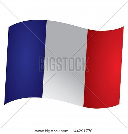 Isolated French flag Vector illustration, eps 10