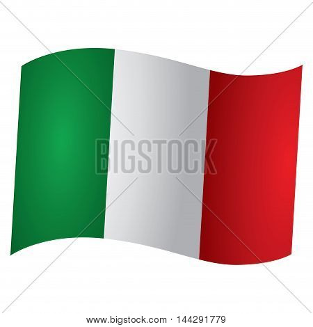 Isolated Italian flag Vector illustration, eps 10