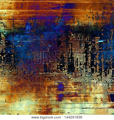 Abstract grunge weathered background of vintage texture. With different color patterns: blue; red (orange); purple (violet); yellow (beige); brown; black