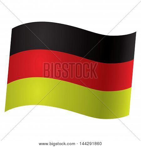Isolated German flag Vector illustration, eps 10