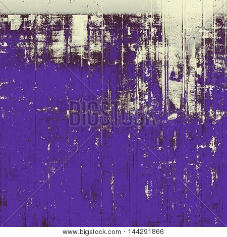 Oldest vintage background in grunge style. Ancient texture with different color patterns: gray; blue; purple (violet); white; black