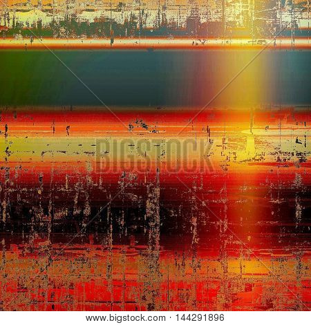 Veined grunge background or scratched texture with vintage feeling and different color patterns: green; blue; red (orange); yellow (beige); brown; pink