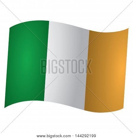Isolated Irish flag Vector illustration, eps 10