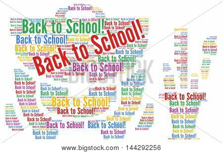 Back to school word cloud concept illustration