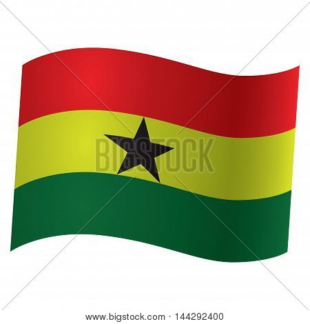Isolated flag of Ghana Vector illustration, eps 10