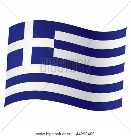 Isolated Greek flag Vector illustration, eps 10