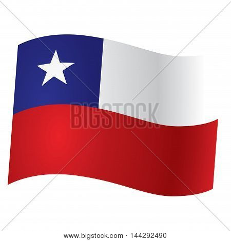 Isolated flag of Chile Vector illustration, eps 10