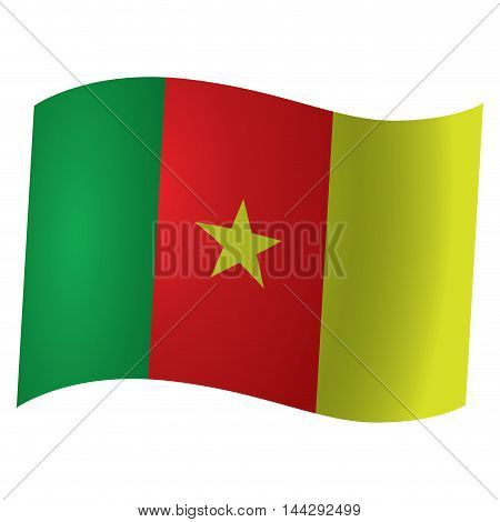 Isolated flag of Cameroon Vector illustration, eps 10
