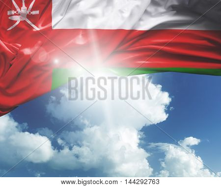 Oman flag on a beautiful day