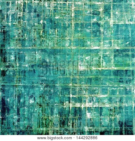 Vintage torn texture or stylish grunge background with ancient design elements and different color patterns: gray; green; blue; white; cyan
