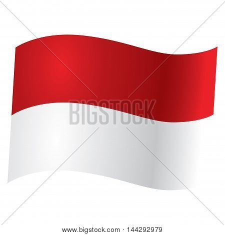 Isolated Indonesian flag Vector illustration, eps 10