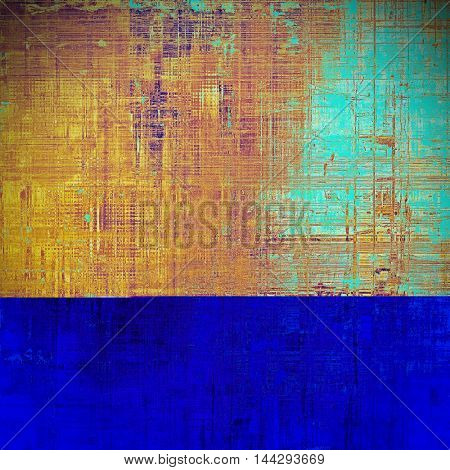 Retro abstract background, vintage grunge texture with different color patterns: blue; red (orange); purple (violet); yellow (beige); brown; pink