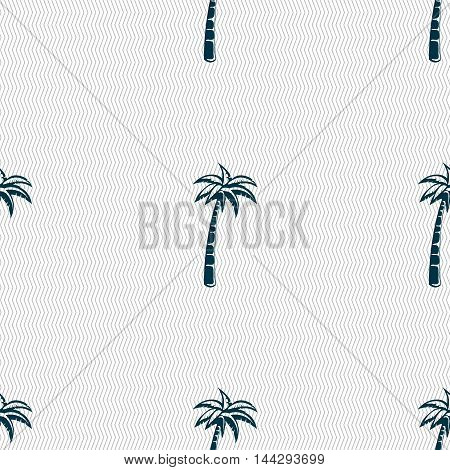 Palm Sign. Seamless Pattern With Geometric Texture. Vector
