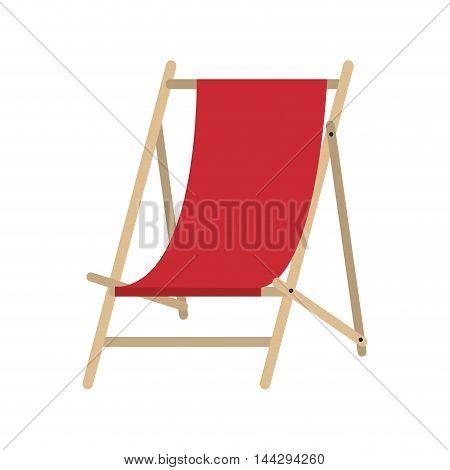 flat design sun chair icon vector illustration