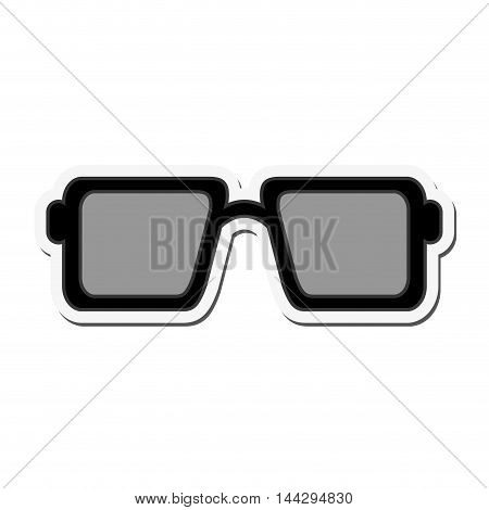 flat design square frame sunglasses icon vector illustration