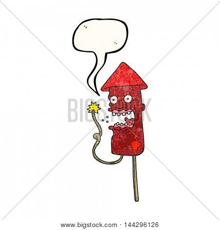 freehand speech bubble textured cartoon screaming firework