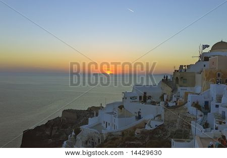 Sunset over Santorini