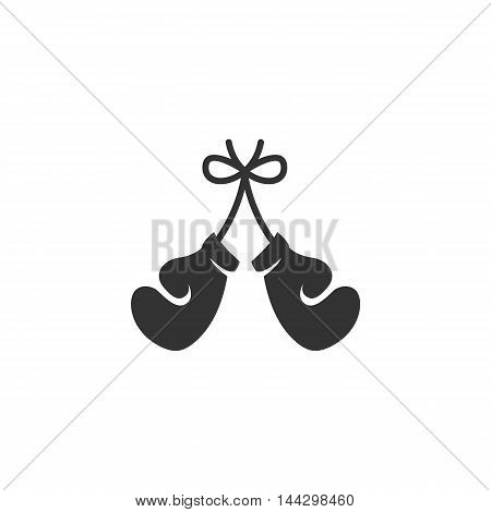 Vector Boxing gloves icon isolated on a white background. Boxing gloves logo in flat style. Simple icon as element for design. Vector symbol, sign, pictogram, illustration