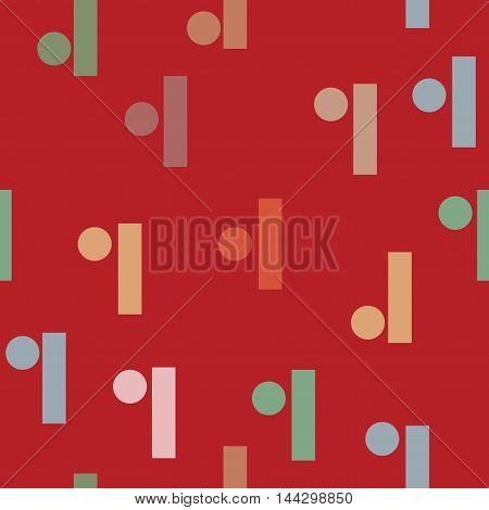 Rectangle color seamless pattern. Fashion graphic background design. Modern stylish abstract texture. Colorful template for prints textiles wrapping wallpaper website etc. VECTOR illustration