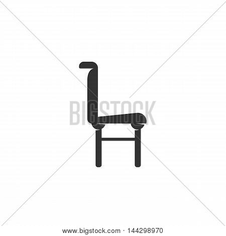 Vector Chair icon isolated on a white background. Chair logo in flat style. Simple icon as element for design. Vector symbol, sign, pictogram, illustration