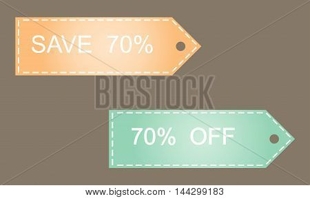 Sale 70 off on grey background vector illustration