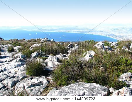 View From Table Mountain, Cape Town South Africa 01h