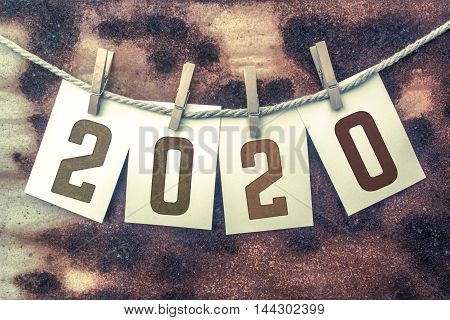 2020 Concept Pinned Stamped Cards On Twine Theme