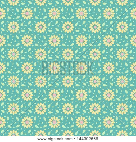 Vector seamless wallpaper pattern with floral background